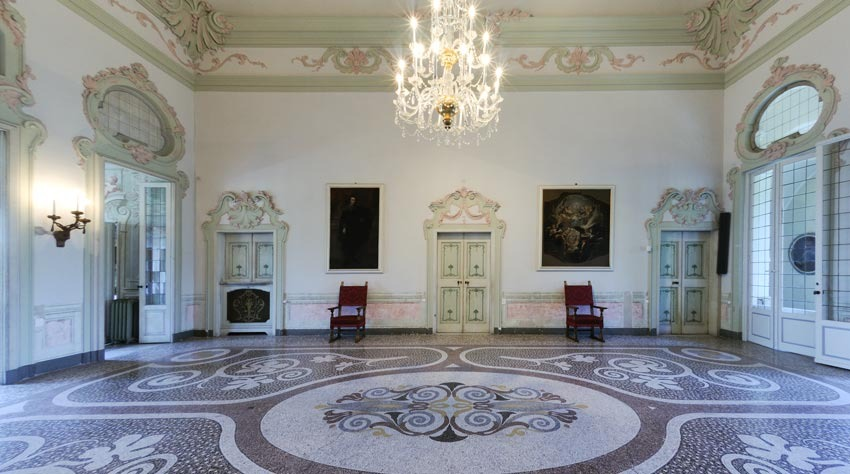 Interior of Villa Durazzo for civil ceremonies in Santa Margherita Ligure