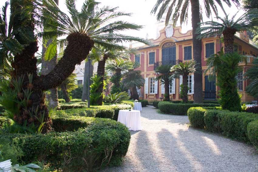Wedding reception in santa margherita at villa durazzo for Wedding venues open late