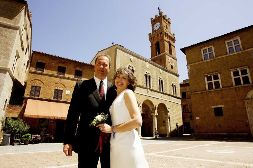 Destination wedding in Tuscany Pienza