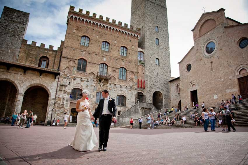 Destination weddings in Tuscany, San Gimignano