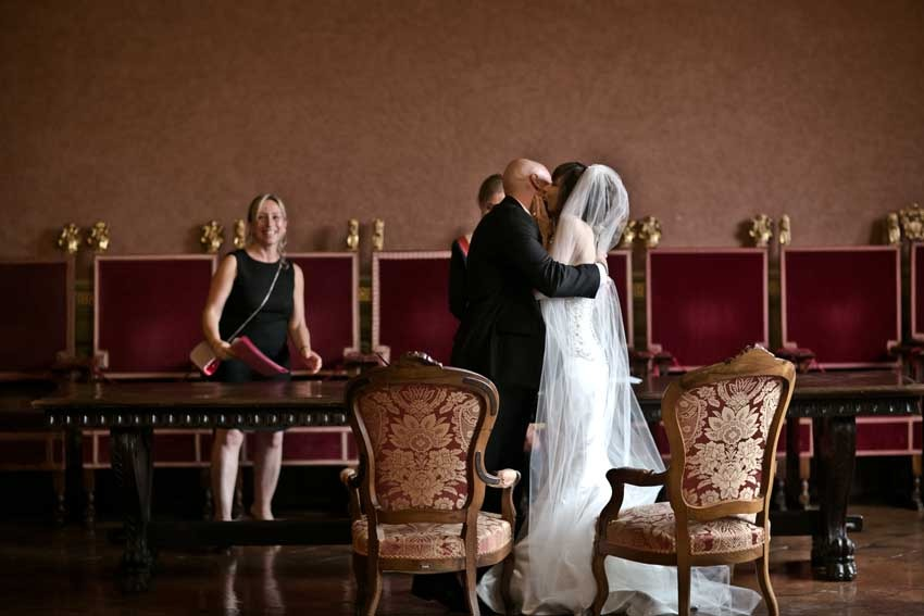 Civil ceremony in Siena Town Hall