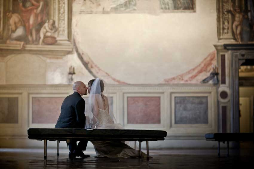 Destination wedding in Siena with civil rite