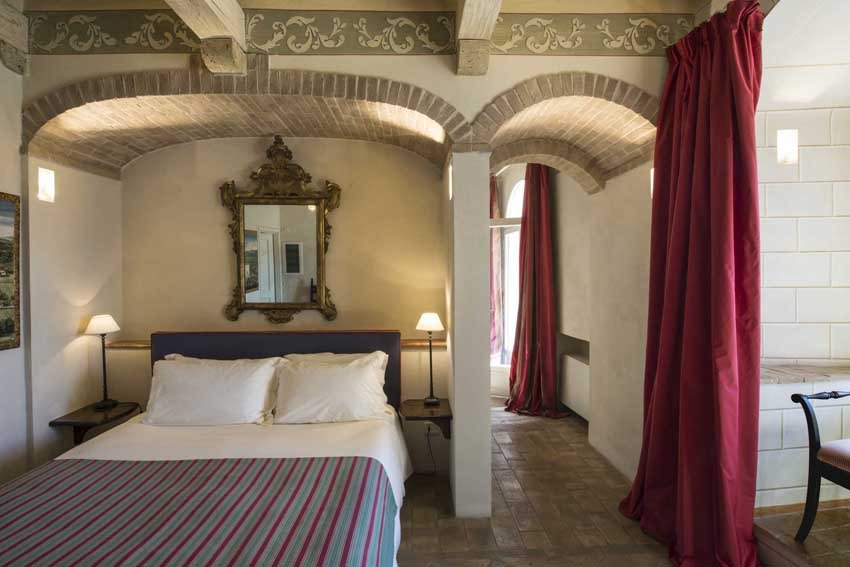 Suite of Castello di Velona, wedding venue in Tuscany
