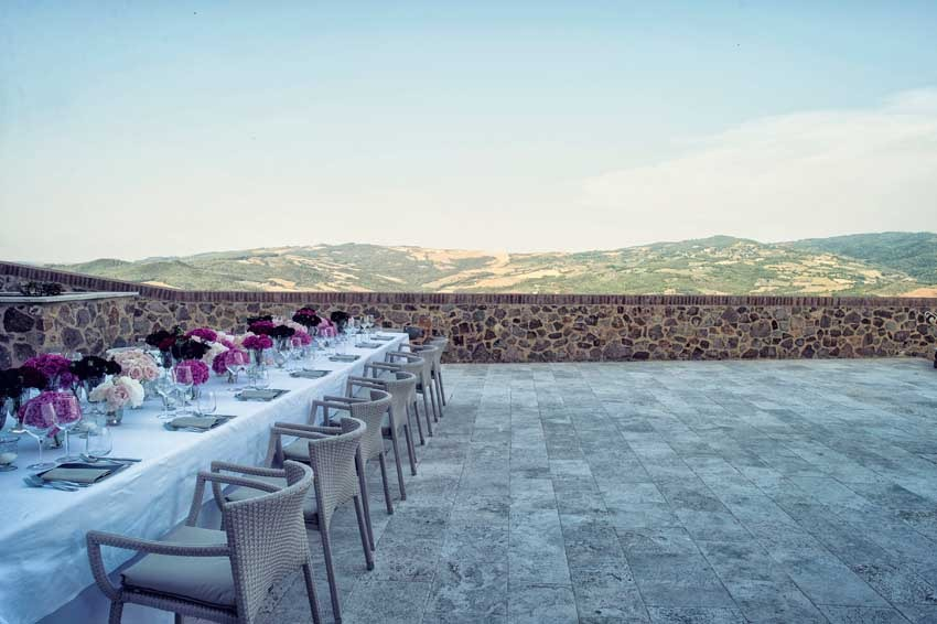 Wedding reception at Castello di Velona in Tuscany
