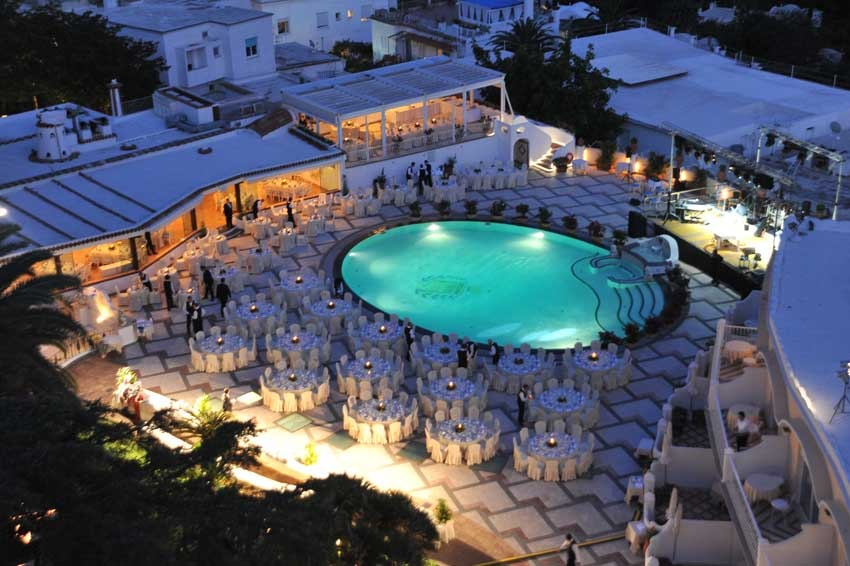 Quisisana Hotel for weddings in Capri