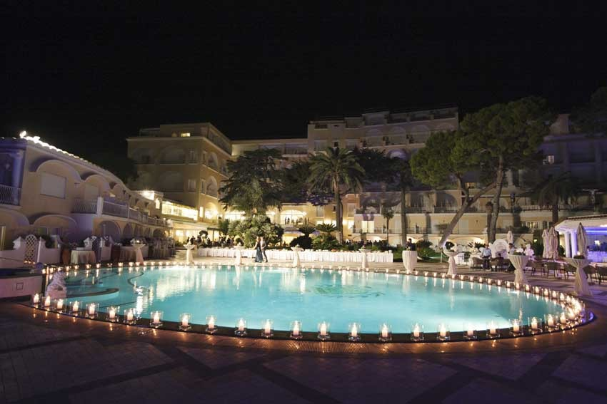 Quisisana Hotel for Capri weddings