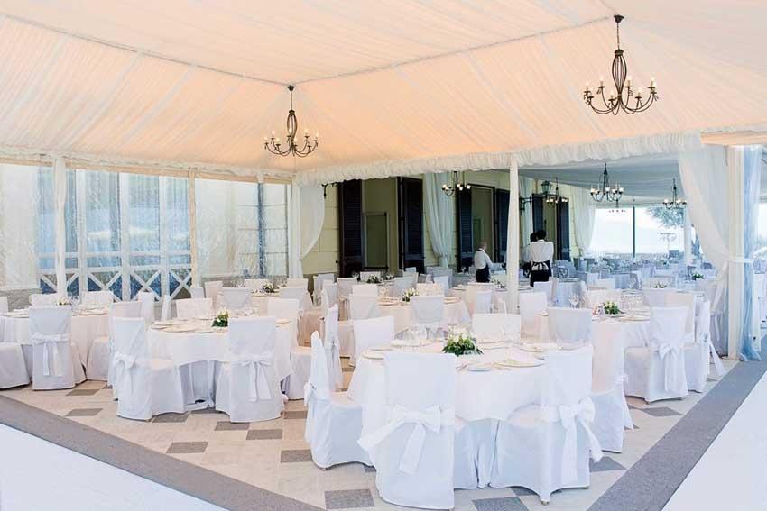 Wedding reception at Villa Angelina Sorrento