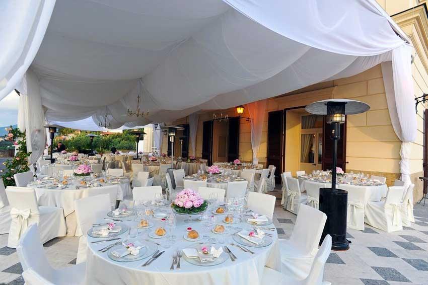 Sorrento wedding reception at Villa Angelina Sorrento