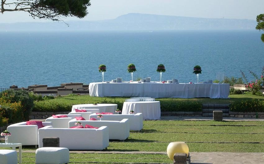 Sorrento weddings with seaview at Villa Angelina