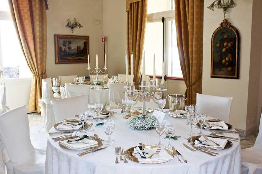 Hall for wedding receptions at Villa Angelina Sorrento