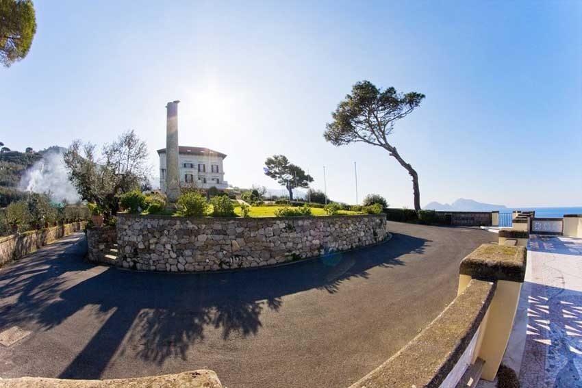 Panorama of Villa Angelina for weddings in Sorrento