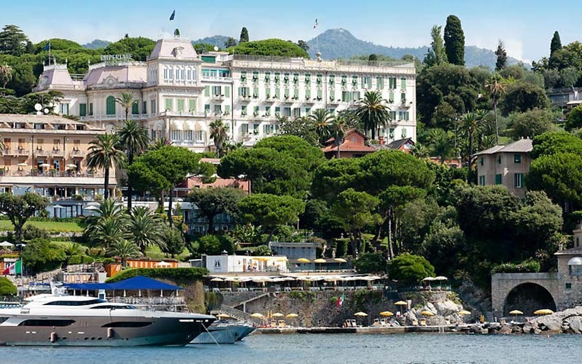 View of Suites of Imperiale Hotel for destination weddings on the Italian Riviera