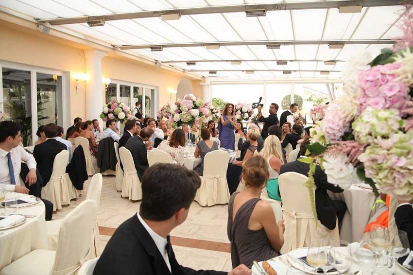 Wedding dinner at Quisisana Hotel Capri
