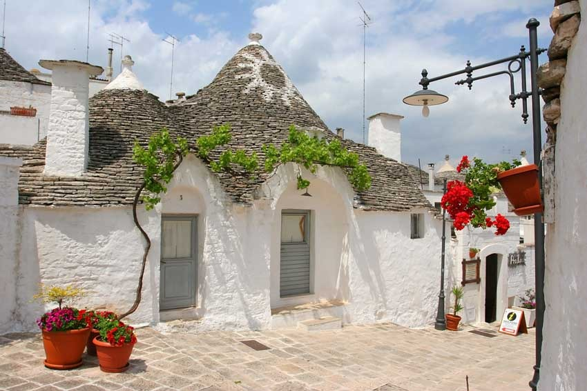 Trulli, typical houses of the Puglia region of Italy