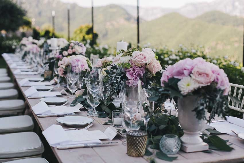 Wedding reception in boho chic style