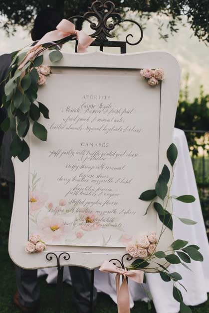 Boho chic seating plan for Amalfi Coast wedding