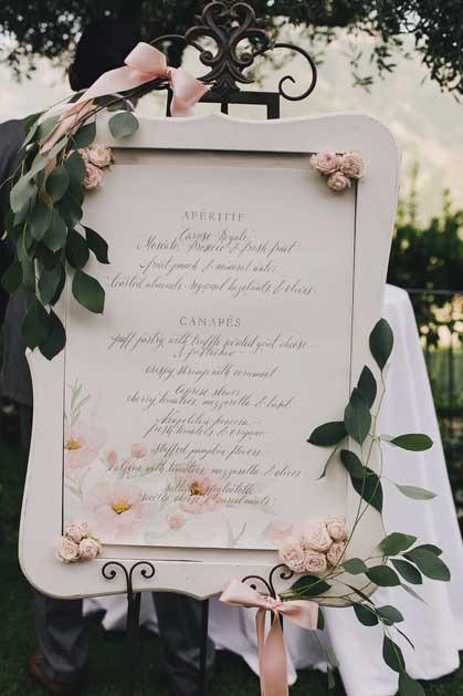 Boho chic seating plan for Amalfi Coast wedding