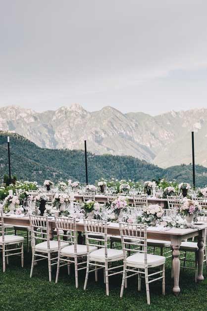 Boho chic wedding reception