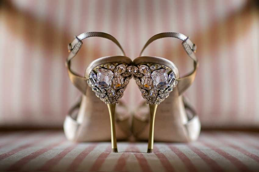 Glamorous shoes for Great Gatsby themed wedding