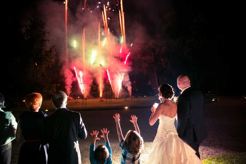 Fireworks for Gatsby themed wedding
