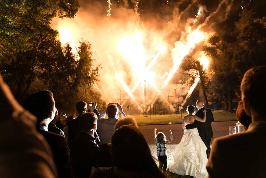 Fireworks, perfect grand finale for a Gatsby themed wedding