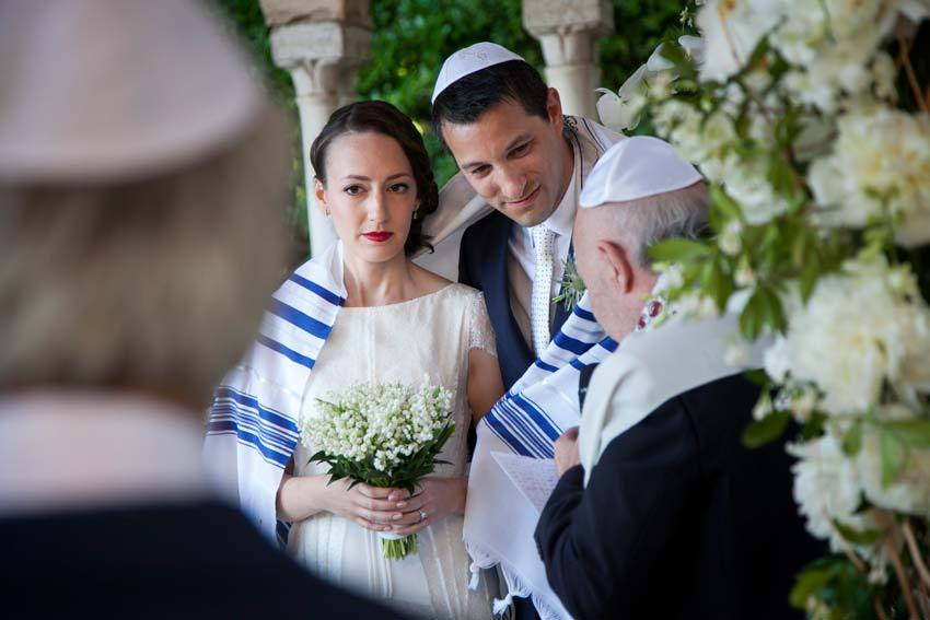 Jewish wedding ceremony in Ravello