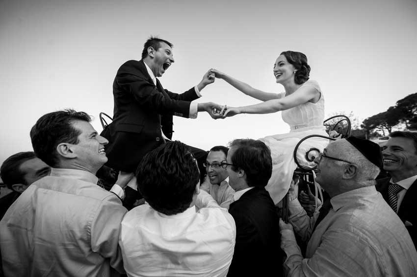 Jewish wedding celebration in Italy