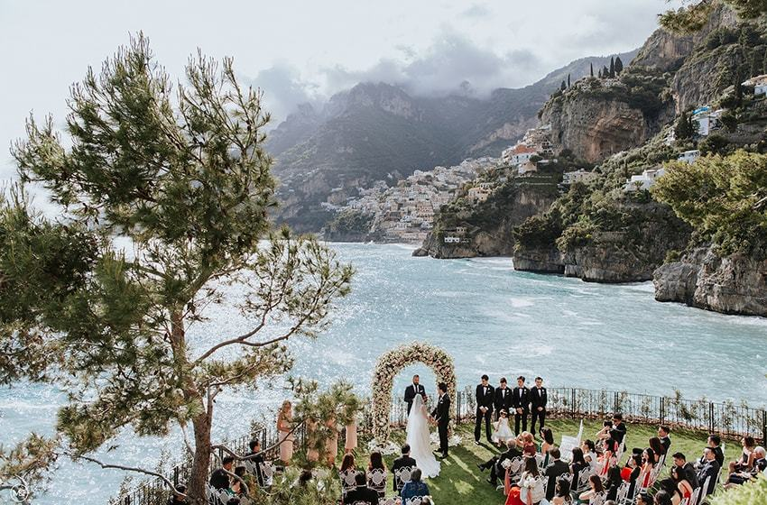 Villa Treville, Positano Top Indian wedding planner for Weddings in Tuscany, Venice, Florence, Como, Rome. Thinking of a Italy wedding? Call/WA +919910325805 | +919899744727 now!