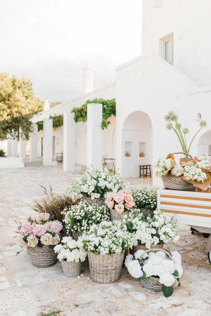 Decoration in flower market style