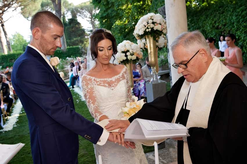 Outdoor Protestant wedding in Ravello on the Amalfi Coast