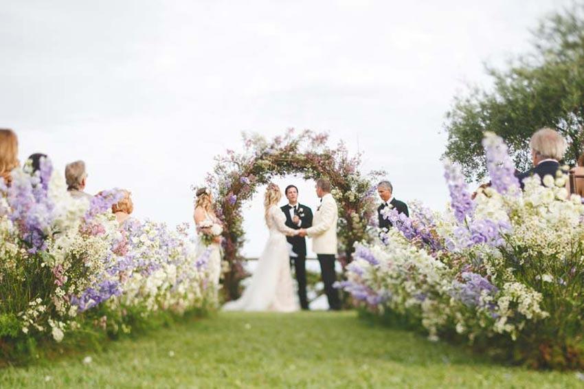 Symbolic wedding in Ravello on the Amalfi Coast of Italy