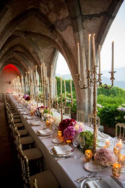 Ravello wedding reception