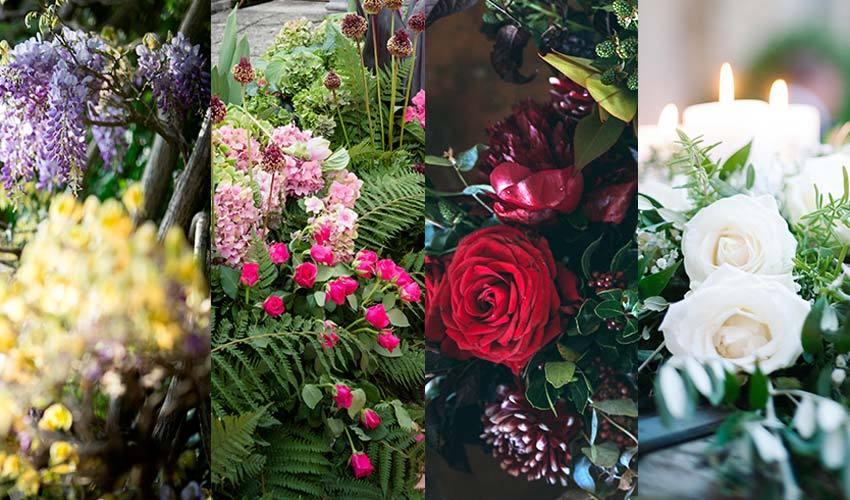 Seasonal flowers for weddings in Italy