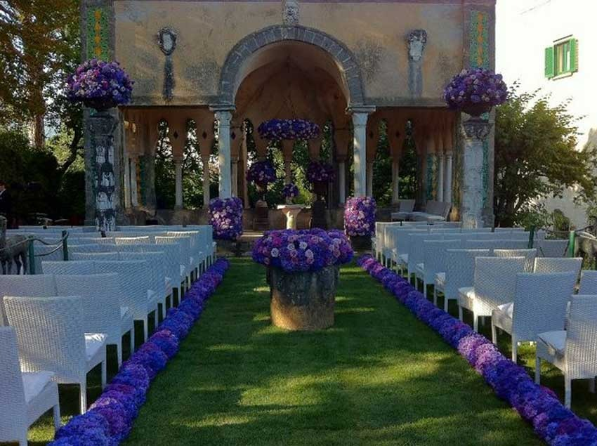 Decor for symbolic wedding in Ravello