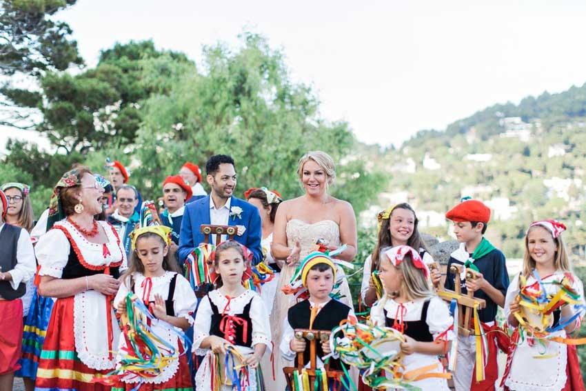 Tarantella dancers for wedding in Capri