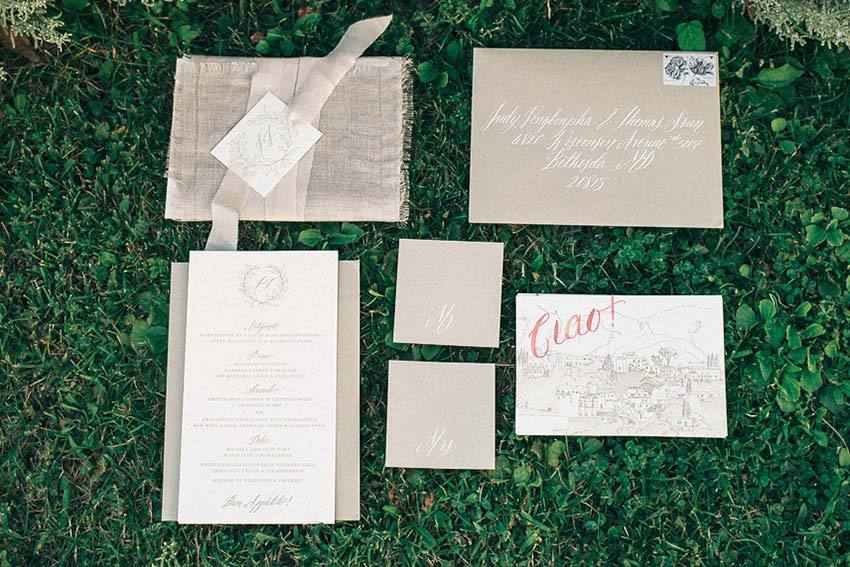 Calligraphy for wedding stationery