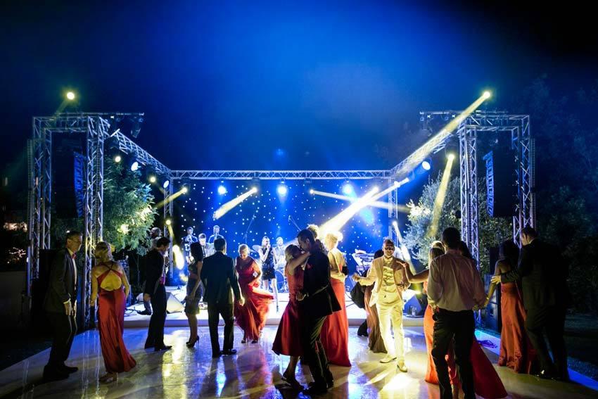 Italian wedding party