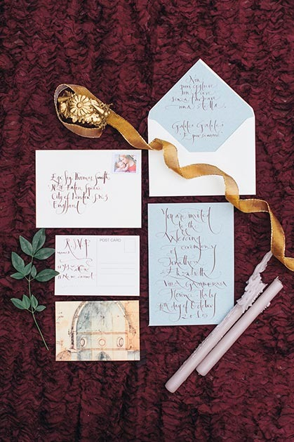 Elegant calligraphy for wedding invites