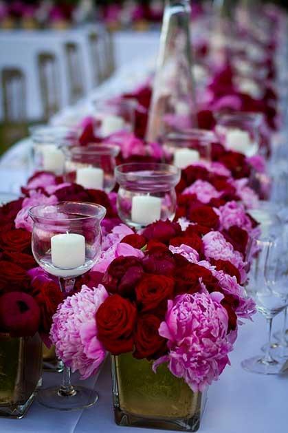 High floral arrangement for Amalfi Coast wedding