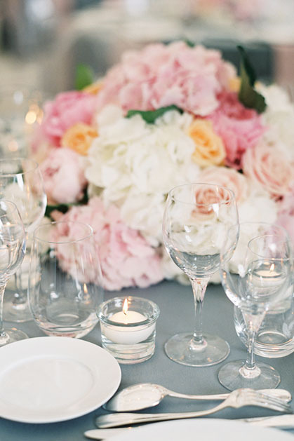 Tablescape in hues of quartz rose and serenity