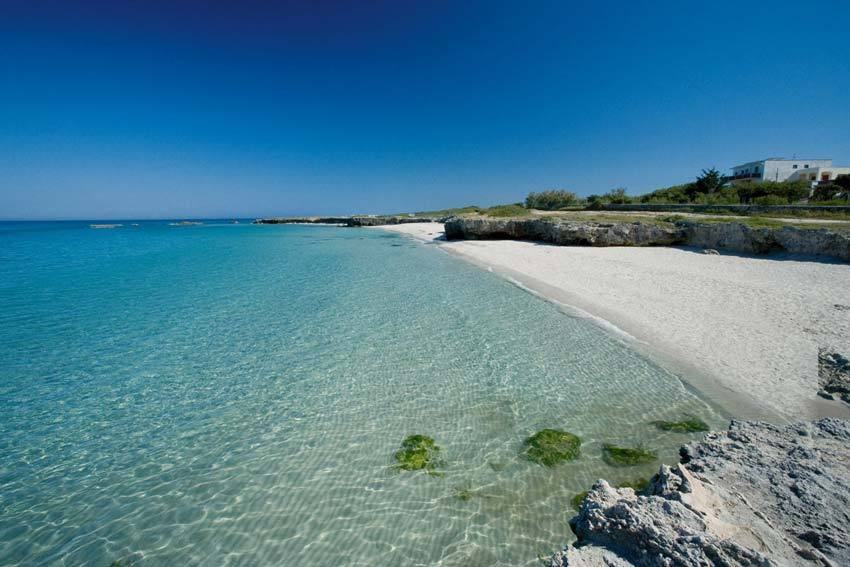 Crystal clear water by the beach in Puglia