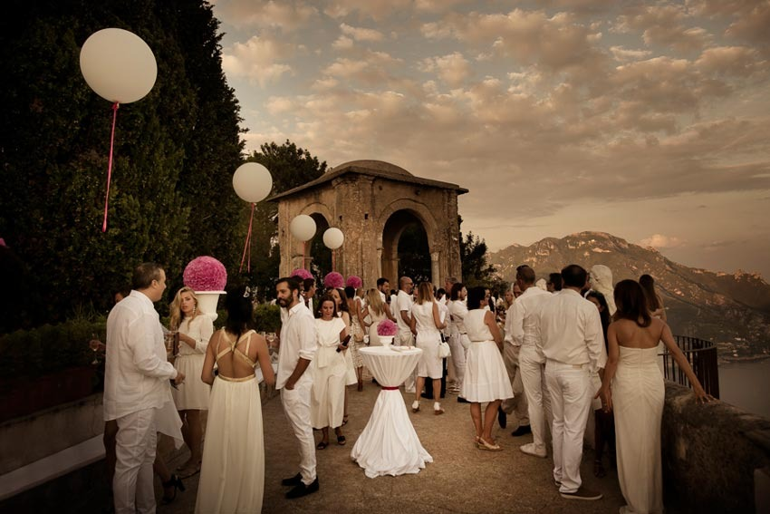 White party wedding reception