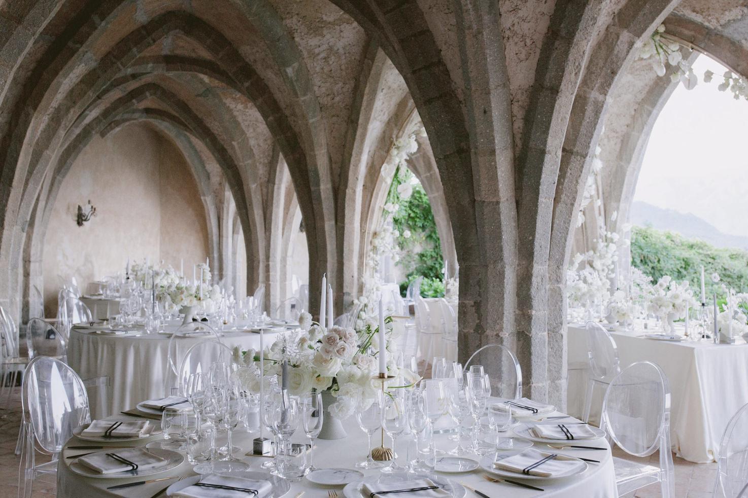 Flowers for Italian wedding reception
