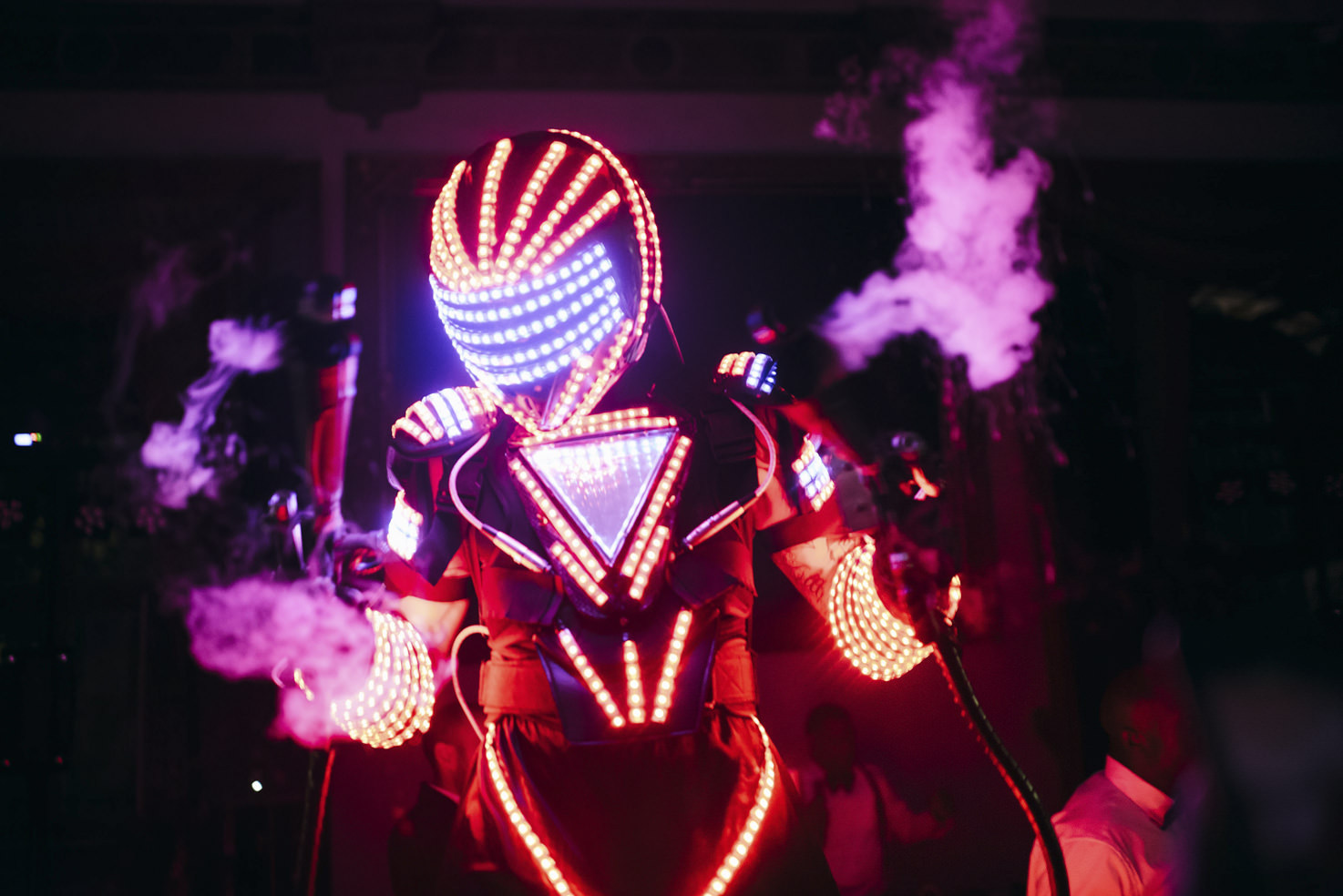LED robot for wedding party