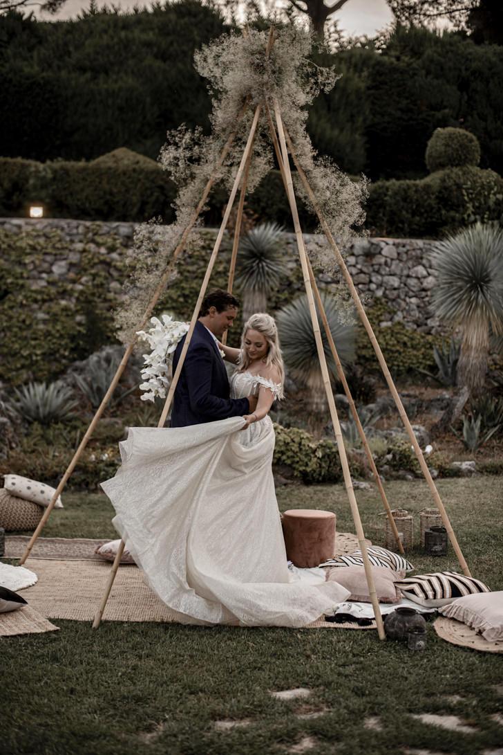 Boho chic wedding on the Amalfi Coast