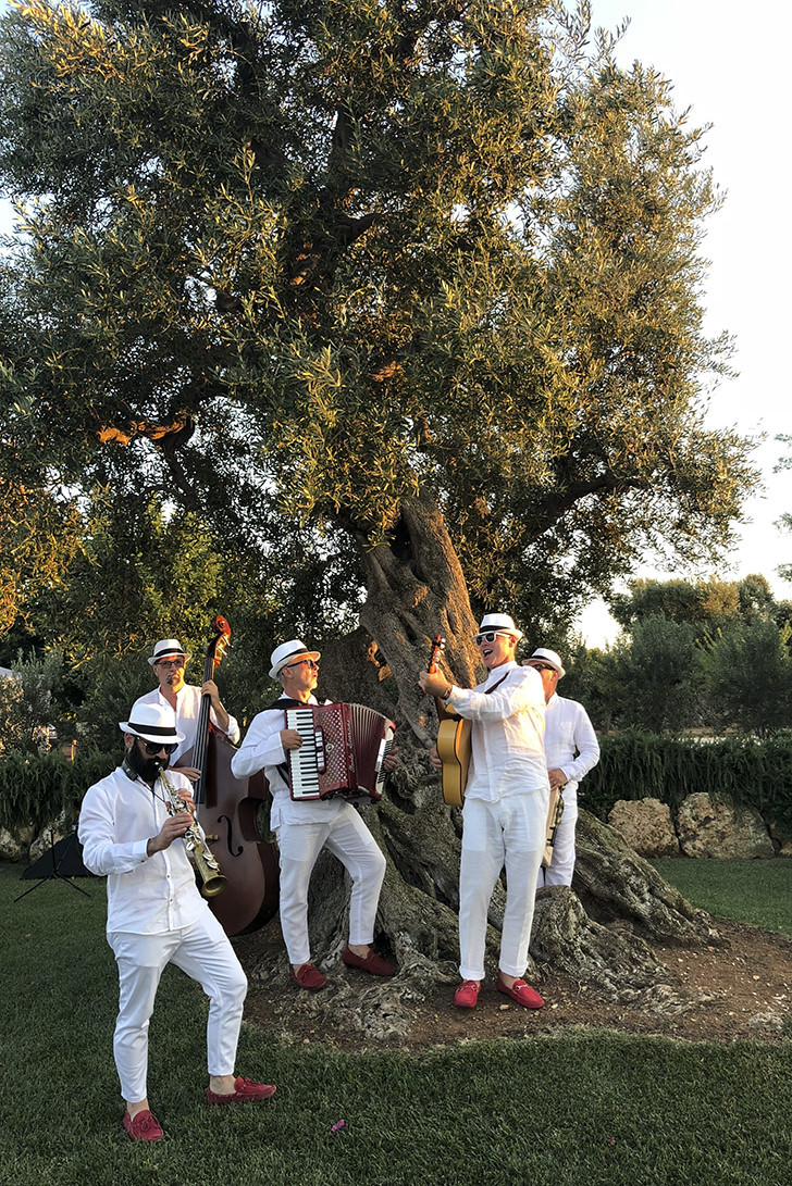 Musicians for wedding in Puglia