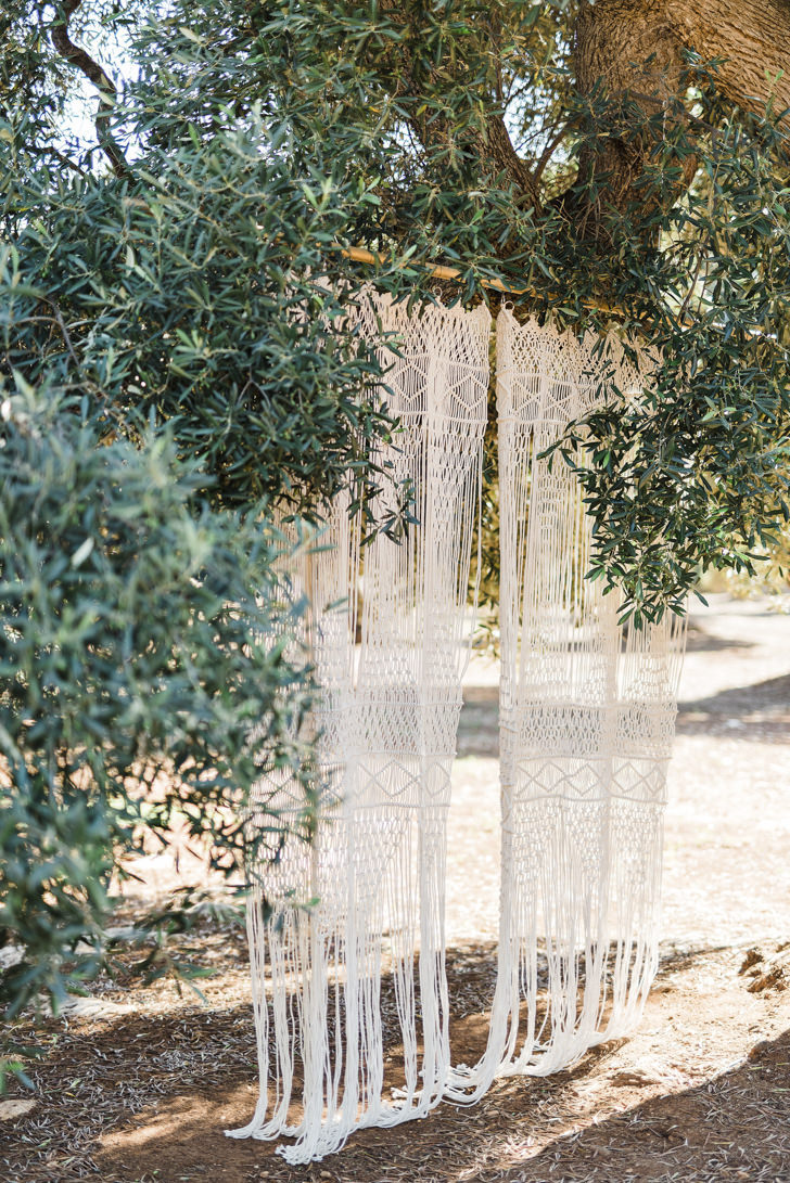 Crocheted decorations for wedding ceremony