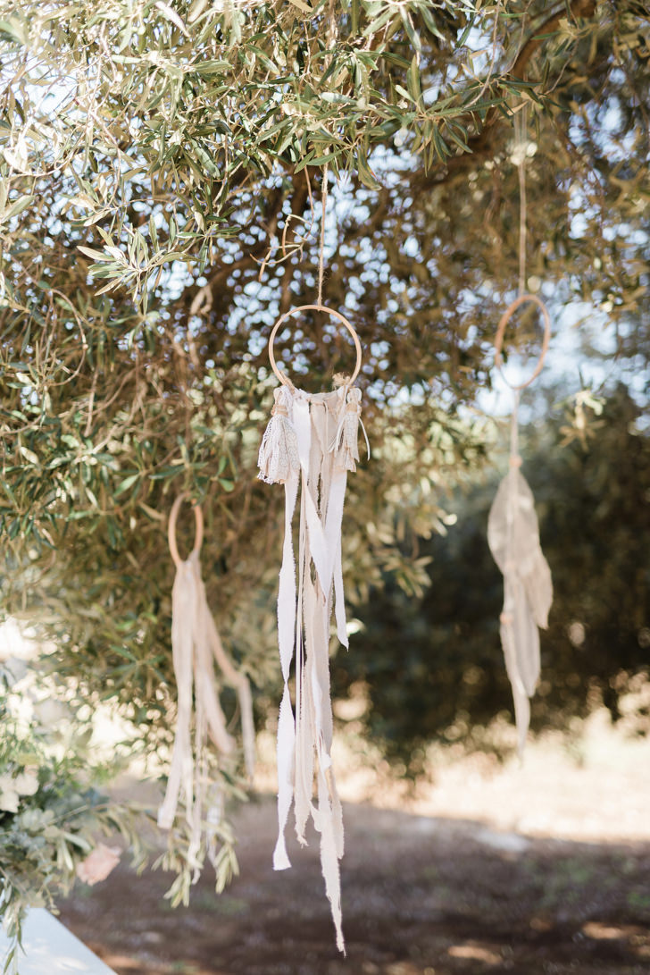 Dream catchers hanging from a tree