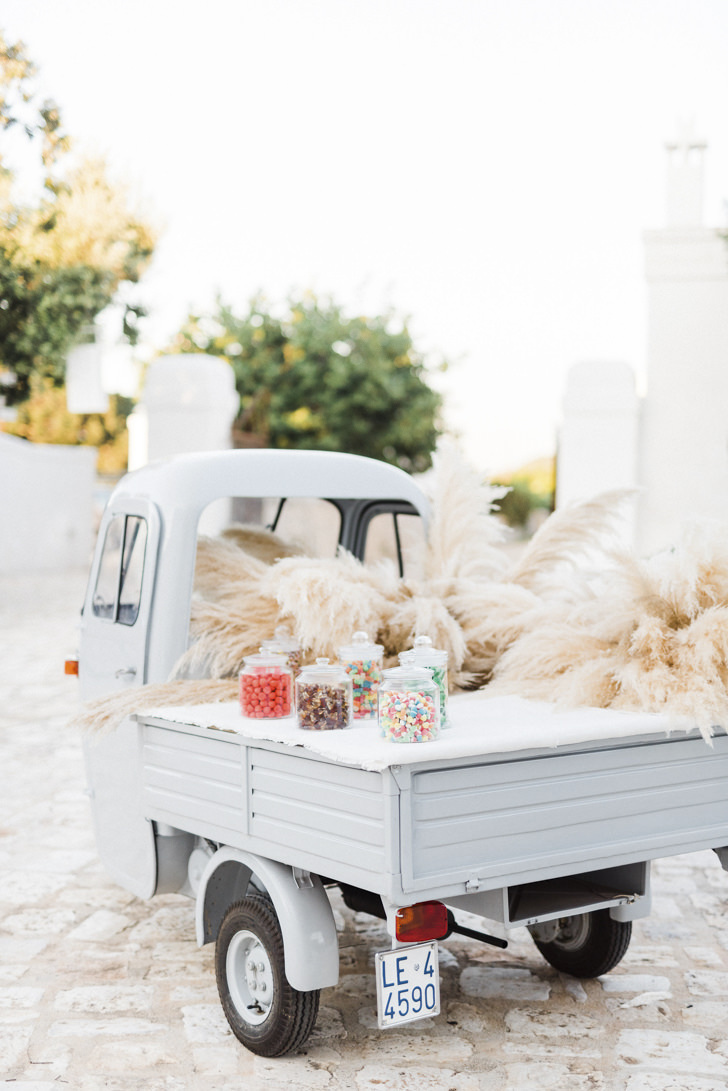 Vintage Ape car with candies