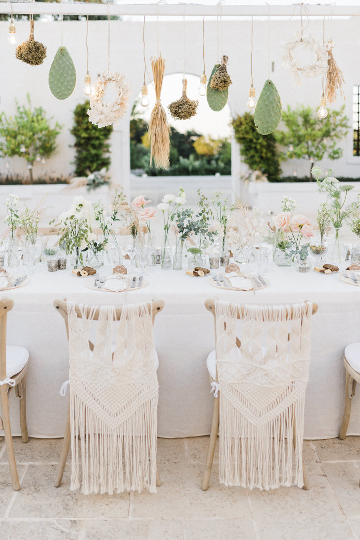 Details of Boho chic table